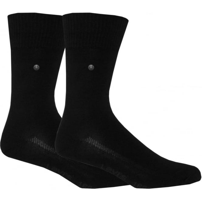 Levi's 2-Pack 168sf Regular-Cut Socks, Black