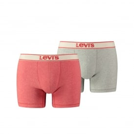 2-Pack 200sf Vintage Heather Boxer Briefs, Coral/Grey