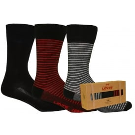 3-Pack 168sf Gift-Box Stripe Socks, Navy