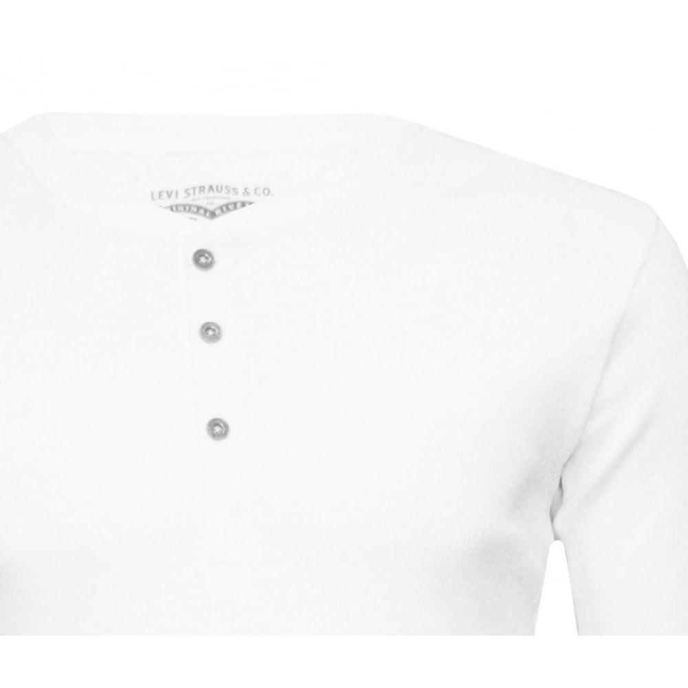 2488144d0da Levi's 300 Levi Strauss Long-Sleeve Henley T-Shirt, White | UnderU