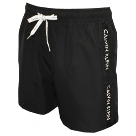 Logo Tape Swim Shorts, Black
