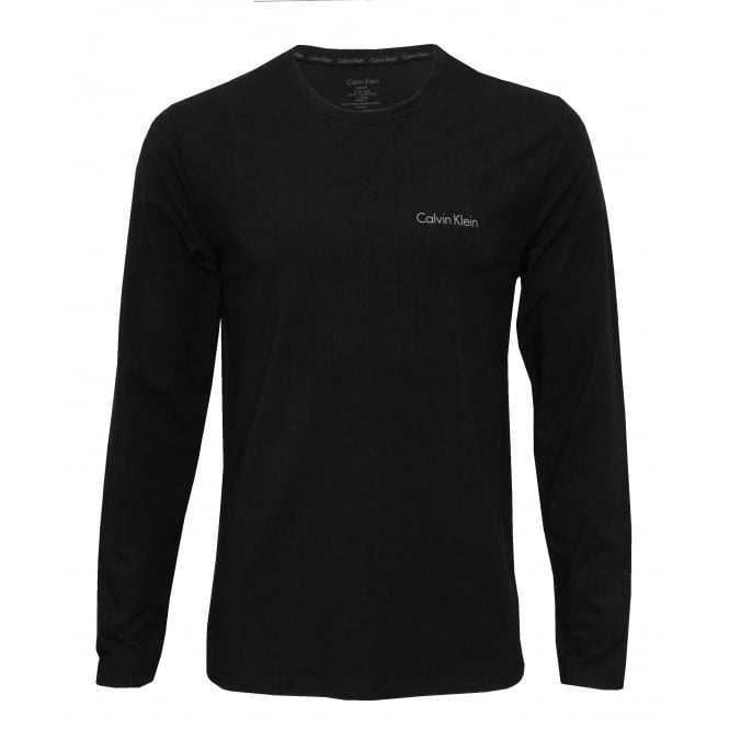 Calvin Klein Long-Sleeve Crew-Neck Jersey T-Shirt, Black