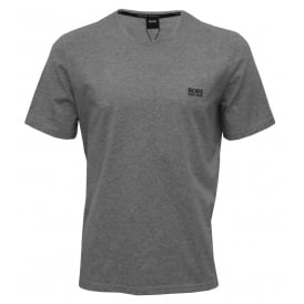 Luxe Jersey Crew-Neck T-Shirt, Heather Grey