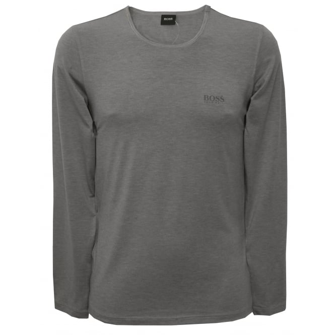 Hugo Boss Luxe Thermal+ Long-Sleeve T-Shirt, Grey Heather