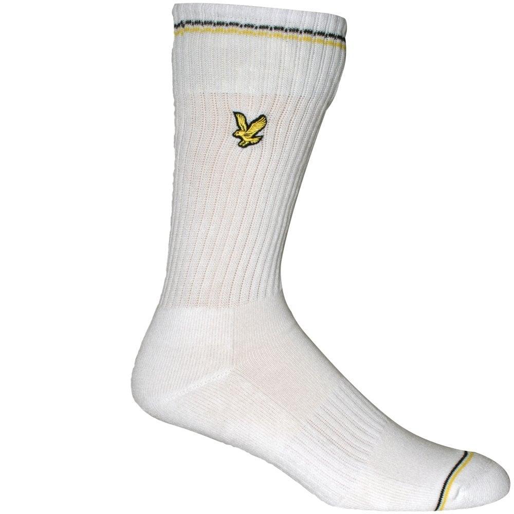 Lyle /& Scott 3-Pack Eagle Logo Stripe Men/'s Sports Socks Black//White//Grey