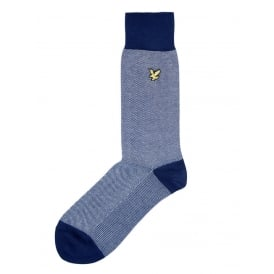 Birdseye Golden Eagle Socks, Navy