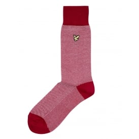 Birdseye Golden Eagle Socks, Racing Red