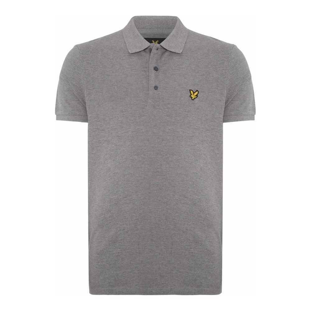 Grey Marl Lyle /& Scott Classic Pique Mens Polo Shirt