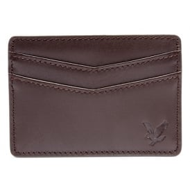 Classic Vintage Leather Cardholder, Dark Brown