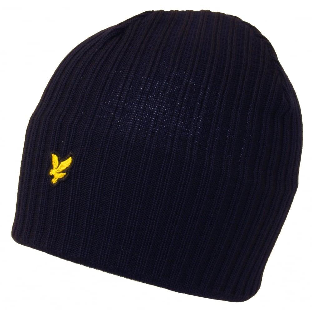 95ce28e2dd8e6 Lyle   Scott Ribbed Lambswool Beanie Hat