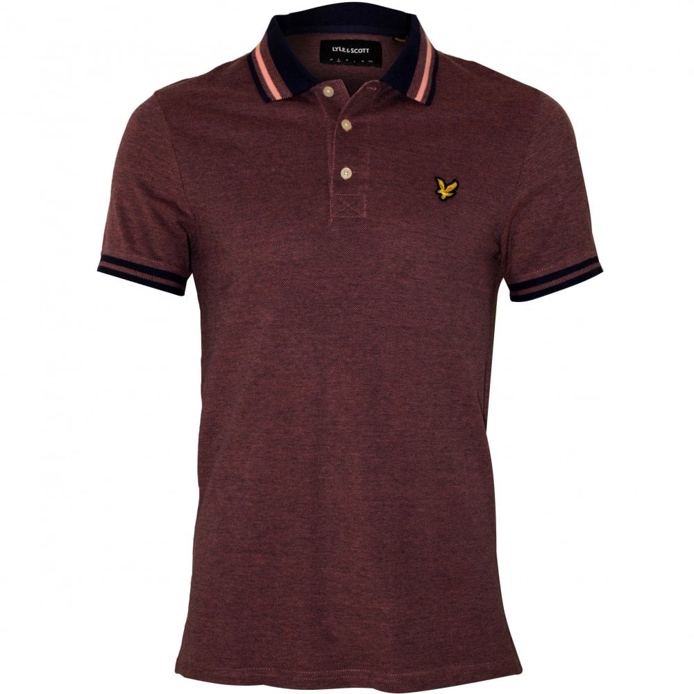 be4262a52fd1 Lyle   Scott Tipped Oxford Pique Polo Shirt