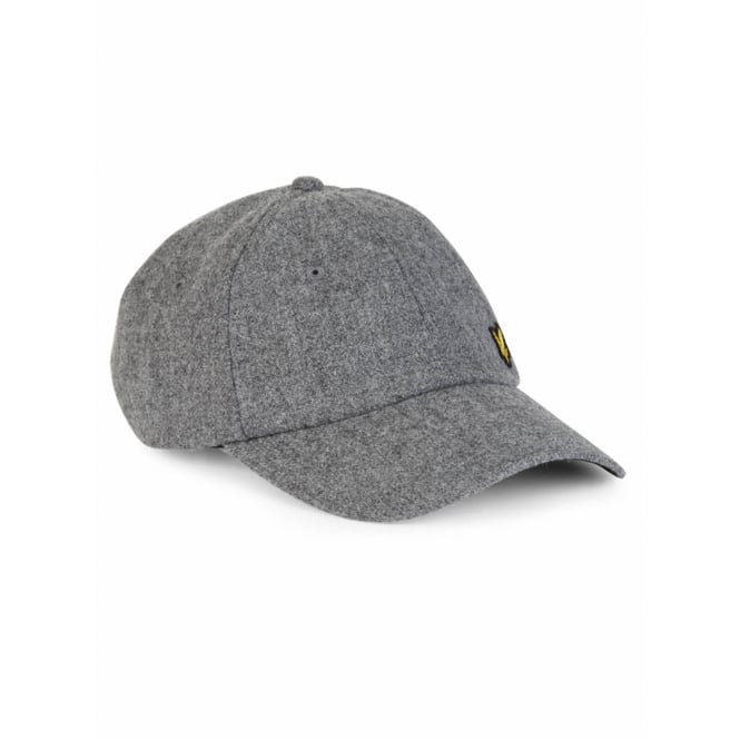 Lyle & Scott Woollen Baseball Cap, Grey Marl