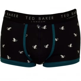 Monkey Print Boxer Trunk, Navy