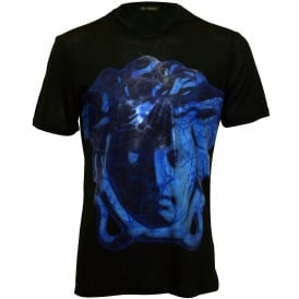 New Dionysus Luxe Crew-Neck T-Shirt, Black/bluette