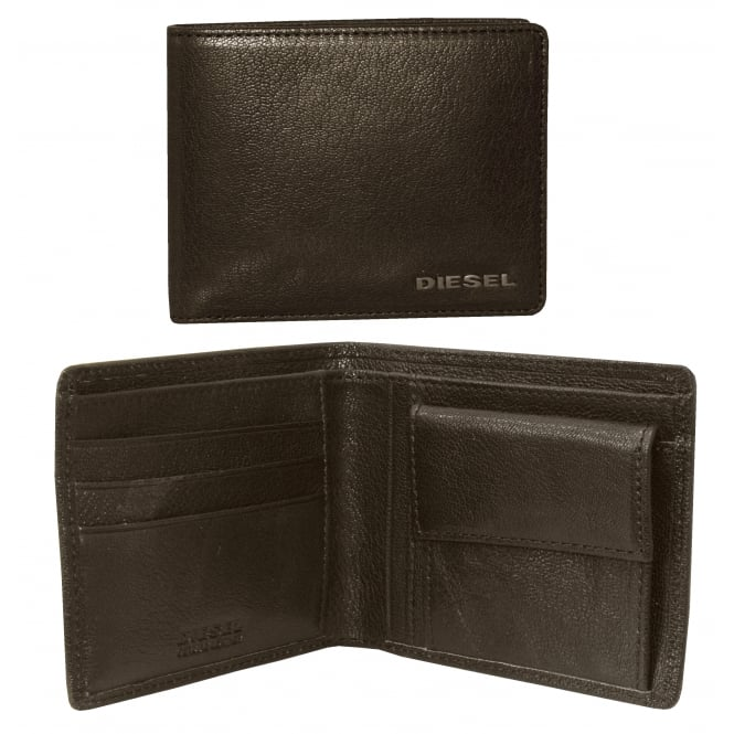 Diesel New Hiresh Small Leather Coin-Pocket Wallet, Brown