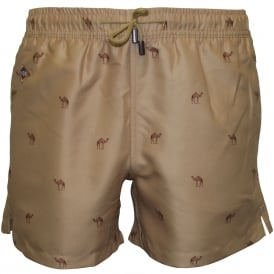 Casablanca Swim Shorts, Camel
