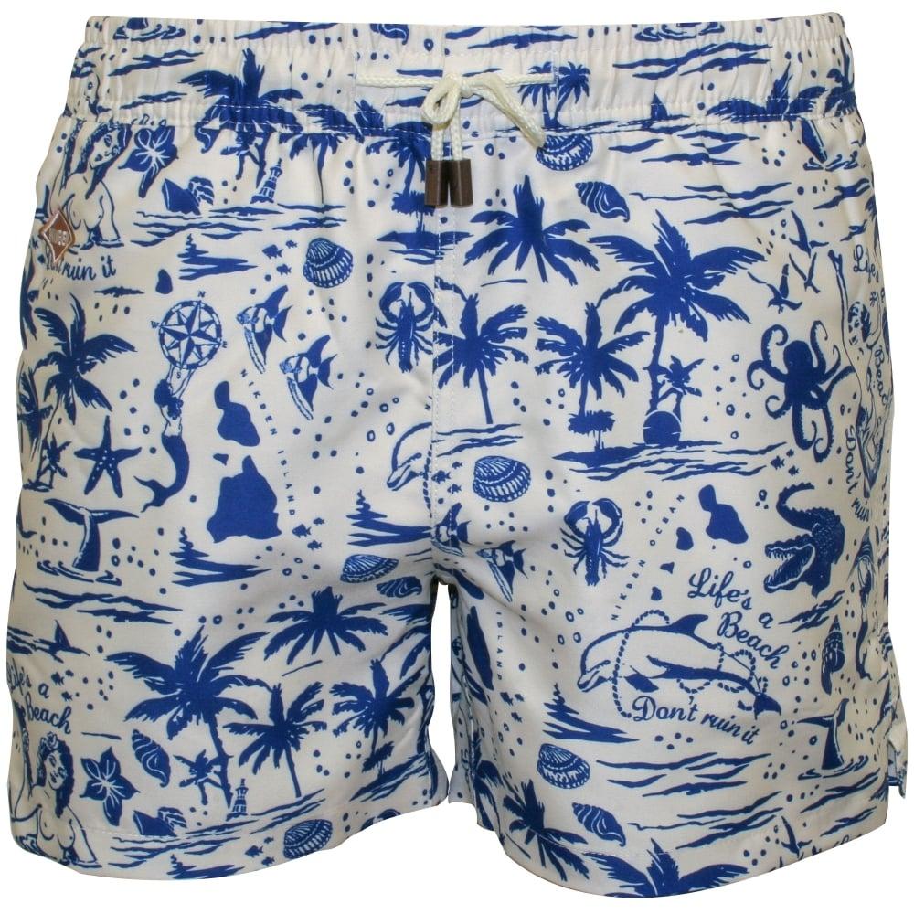 1b57e2e8a57e0 Nikben Flamingo Swim Shorts, Lemon | Nikben swim shorts | UnderU