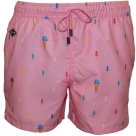 Popsicle Swim Shorts, Soft Pink
