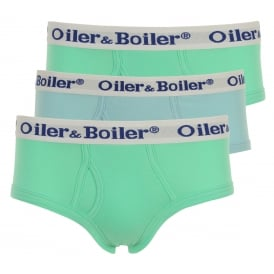 3-Pack Pastel Plains Hip Briefs, Green/Blue