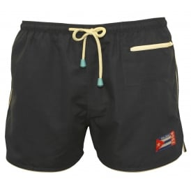 East Hampton Retro Swimming Shorts, Pirate Black