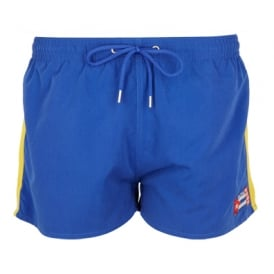 Freshman Shortie Swim Shorts, Navy/Yellow