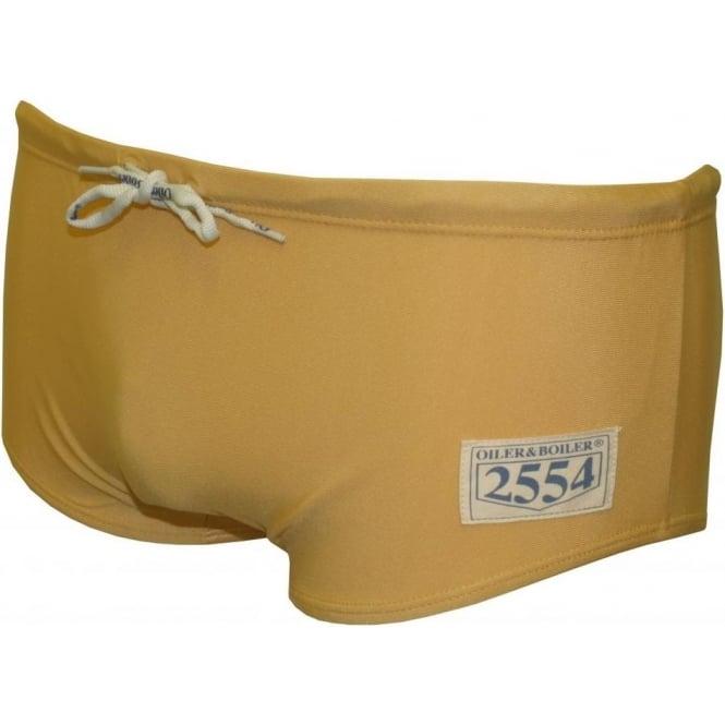 8fd508baf5 Oiler & Boiler Massachusetts Retro Athletic Swim Trunk, Gold | UnderU