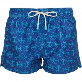 Tuckernuck Shortie Anchors Swim Shorts, Blue
