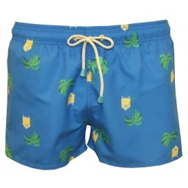 Tuckernuck Shortie Beach Hut Swim Shorts, Blue