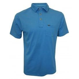 Jacks Base Polo Shirt, Deep Water Blue