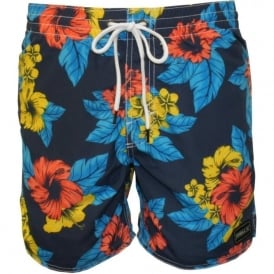 PM Bondi Floral Swim Shorts, Blue/Green/Multi