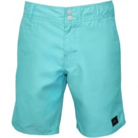 "PM Hybrid Pigment 18"" Formal Swim Short, Turquoise"