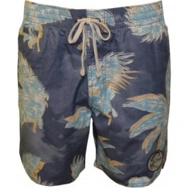 "PM O'Riginals Haleiwa 17"" Swim Shorts, Light Blue"