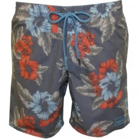PM Paradise Floral Swim Shorts, Blue/Multi