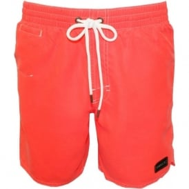 PM Sunstruck Swim Shorts, Neon Flame
