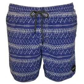 PM Thirst For Surf Patterned Swim Shorts, Blue
