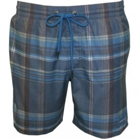 PM Triumph Checked Swim Shorts, Blue