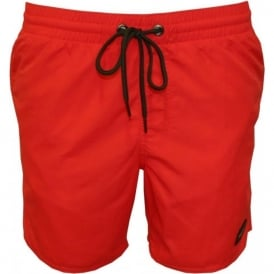 PM Vert Swim Shorts, Hibiscus Red