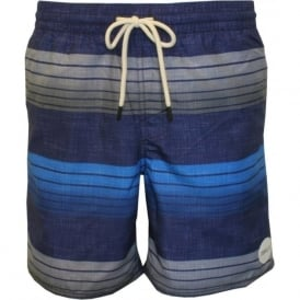 Santa Cruz Band Striped Swim Shorts, Blue/Grey