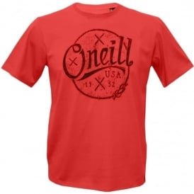 Single Jersey Combed Cotton Nautic T-Shirt, Salmon Red