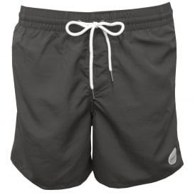 Vert Solid Colour Swim Shorts, Dark Grey