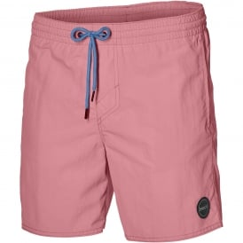 Vert Solid Colour Swim Shorts, Strawberry Ice