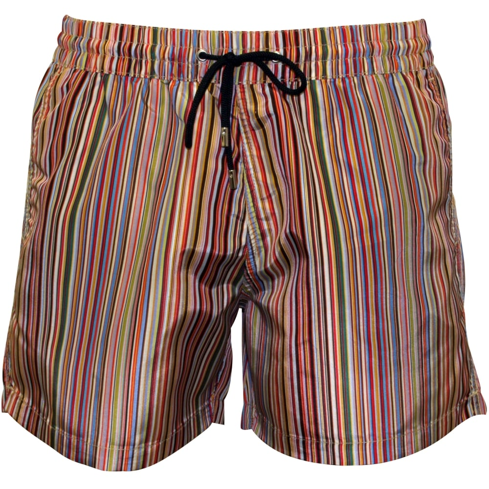 6a28020a71aa9 Paul Smith Multi Stripe Swim Shorts | Paul Smith swim shorts | UnderU