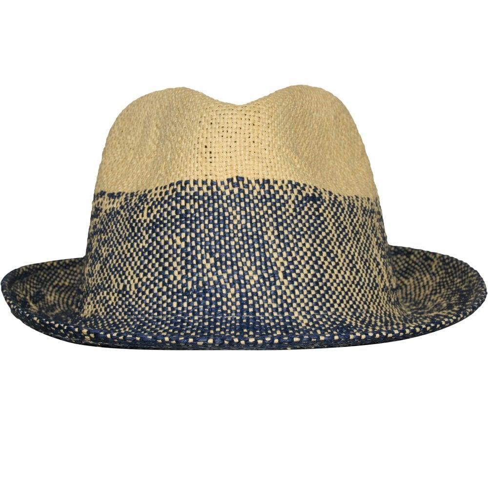 c807db44 Paul Smith Two Tone Trilby Hat, Straw/Navy | Paul Smith Hat | UnderU