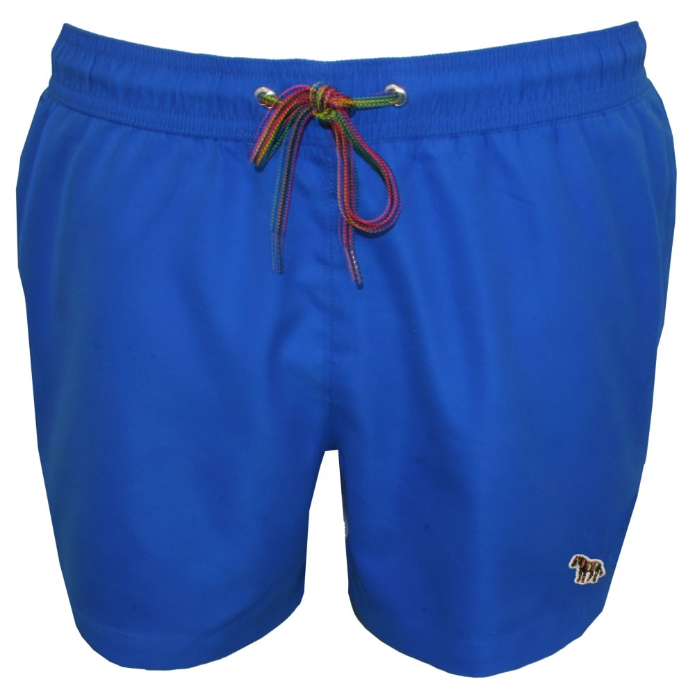 a894366ae4 Paul Smith Zebra Logo Classic-cut Swim Shorts, Electric Blue | UnderU