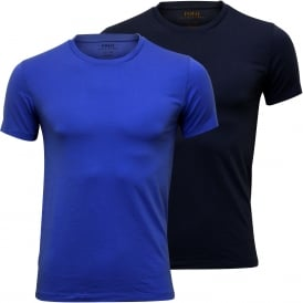 2-Pack Short-Sleeve Crew-Neck T-Shirts, Sky/Navy Blue