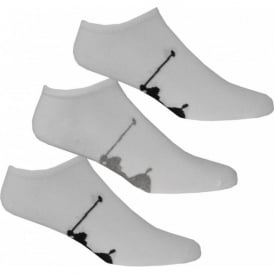 3-Pack Big Pony Player Trainer Socks, White