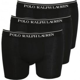 3-Pack Classic Boxer Briefs, Black