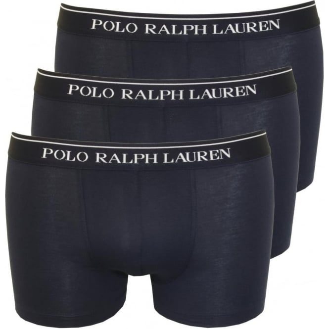 Polo Ralph Lauren 3-Pack Classic Boxer Trunks, Navy