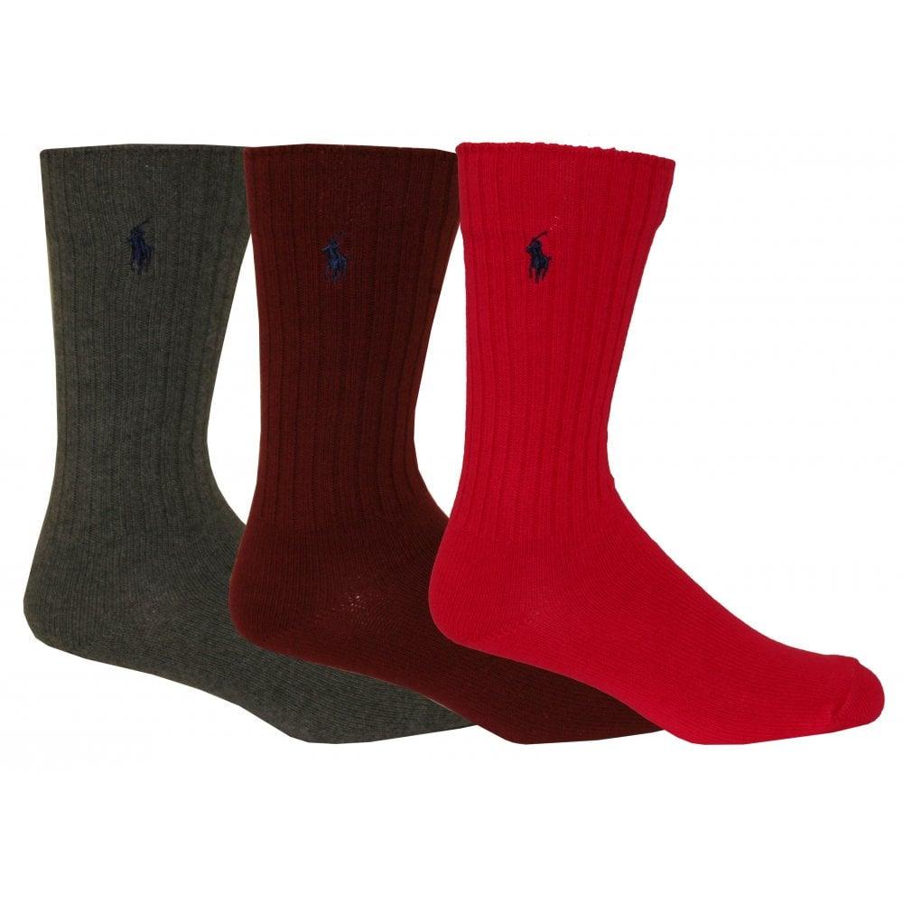 7a053b16a85 Polo Ralph Lauren 3-Pack Crew Socks
