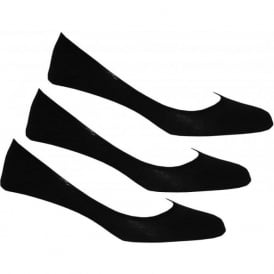 3-Pack No-Show Shoe-Liner Socks, Black